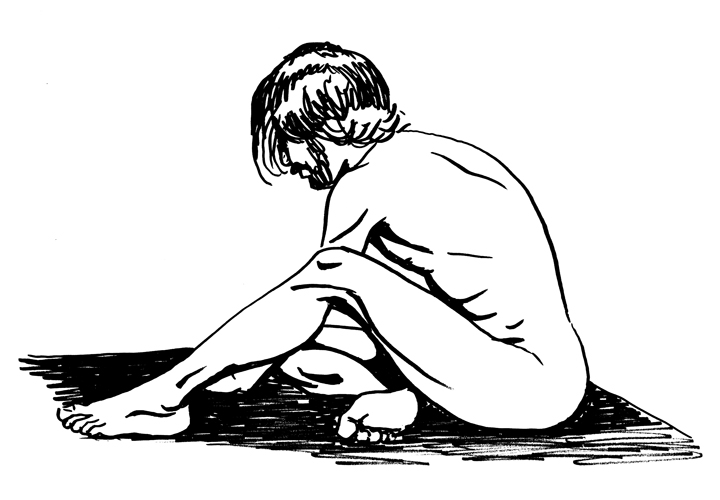 Figure study in ink 4.17